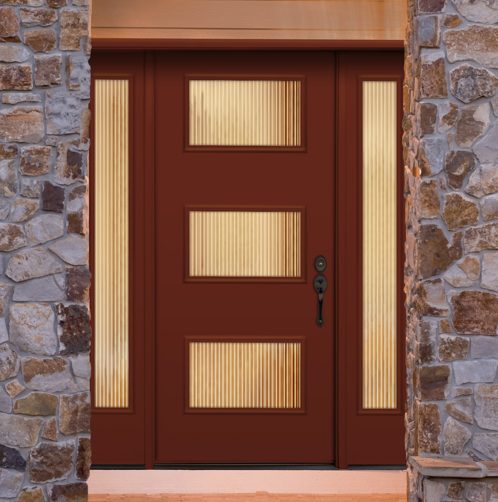 Courtesy door entry doors steel textured fiberglass for Residential entry doors