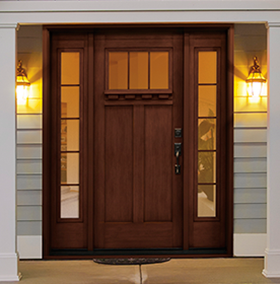 Courtesy door entry doors steel textured fiberglass for Residential front doors